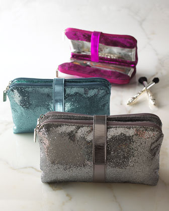 Jane Marvel Metallic Cosmetic Bag from Neiman Marcus. Perfect for the 2012 holiday season, metallic cosmetic cases. Photo courtesy of Neiman Marcus.