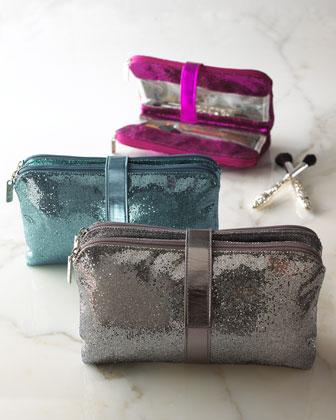Jane Marvel Metallic Cosmetic Bag from Neiman Marcus. Perfect for the 2012 holiday season, metallic cosmetic cases. Photo courtesy of Neiman Marcus.