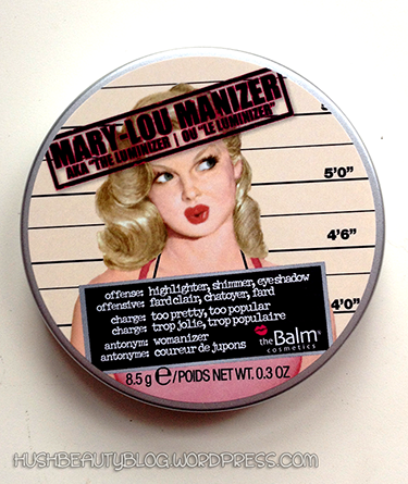 Mary-Lou Manizer by theBALM Cosmetics Product Review. Makeup tips, tricks, product reviews makeup and beauty blog HUSH Beauty. hushbeautyblog.wordpress.com